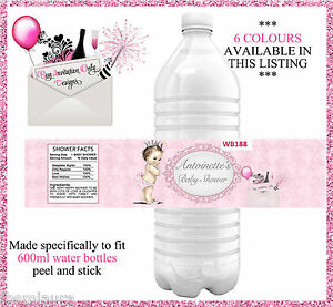 Vintage Baby Shower Water Bottle Labels Set Of 4 Princess Baby