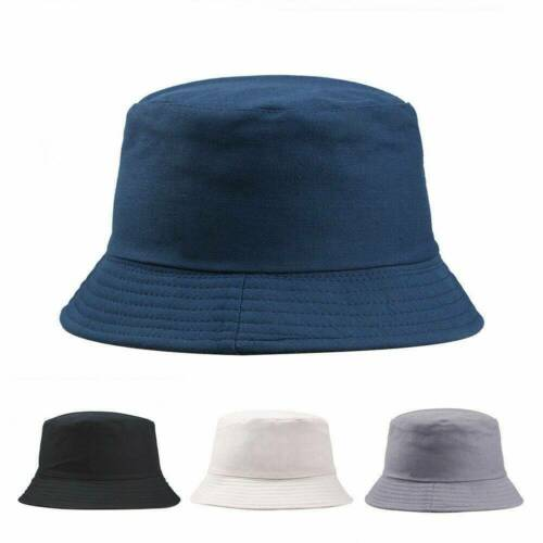 Casual Bucket Hat Hunting Fishing Solid Color Cap Women Men Summer Sun Hats new
