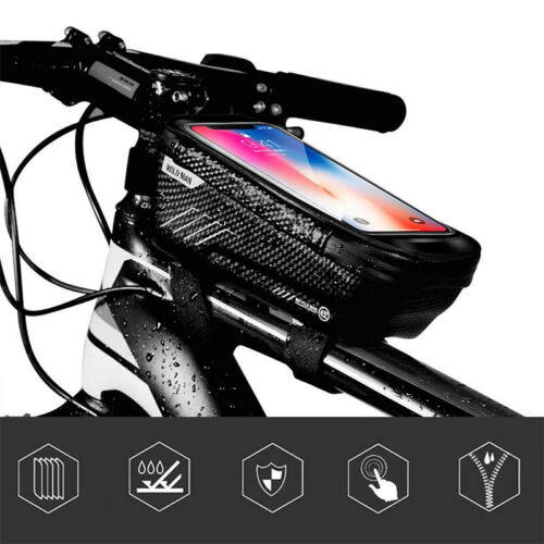Cycle Bike Bicycle Mobile Phone Touch Screen Pouch Bags Frame Pannier Tube Bags