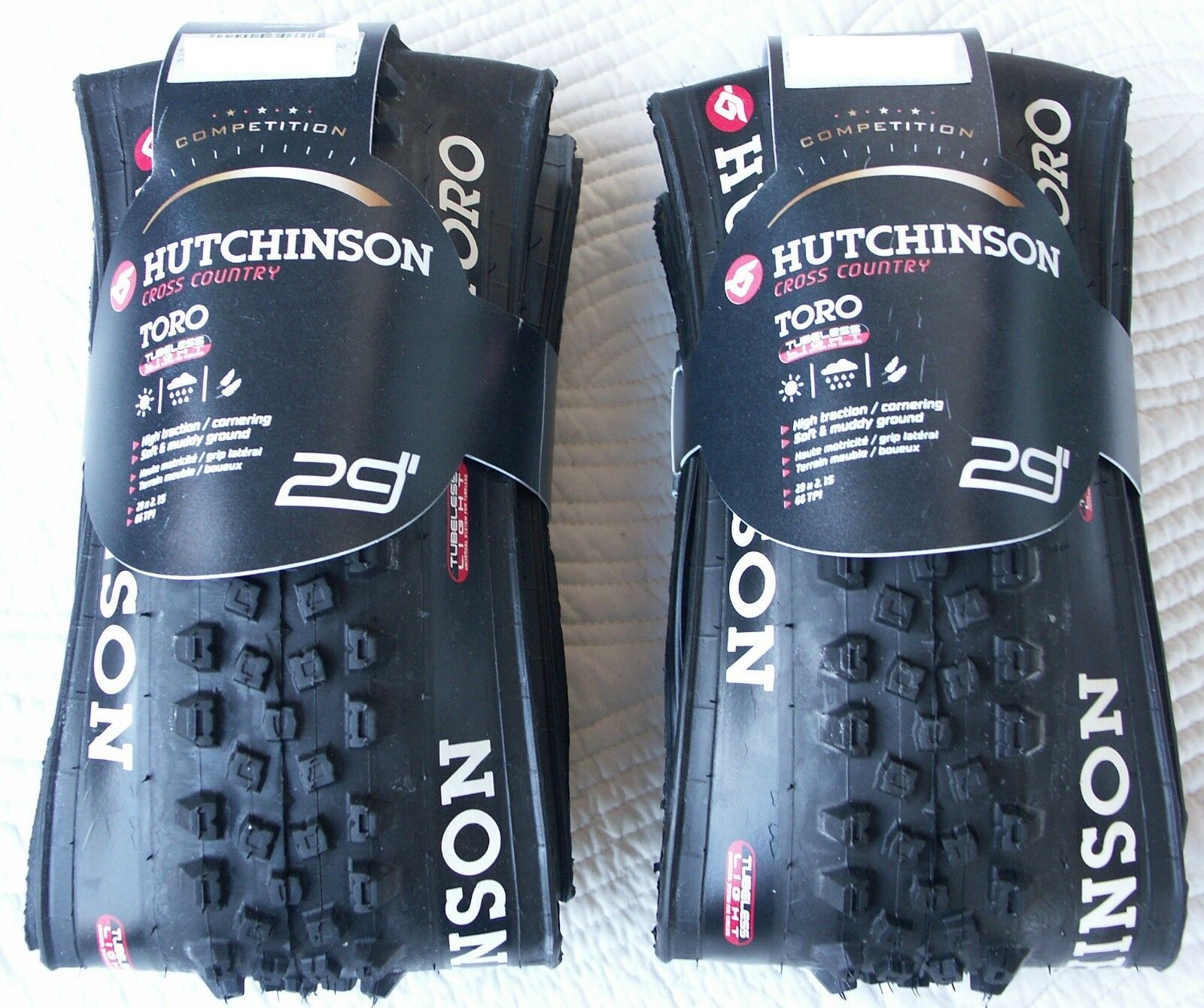 Pair of tires  mtb hut nson tgold hardskin 29  x 2.15 tubeless ready, new   free and fast delivery available