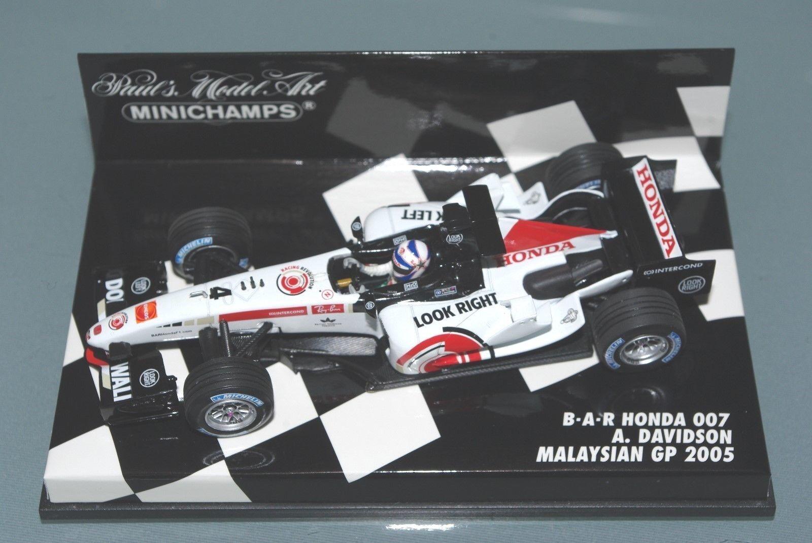 Minichamps F1  BAR HONDA 007-Anthony DAVIDSON-Malese GP 2005