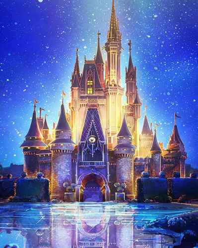 Full Drill DIY Embroidery Cross Stitch Castle 5D Diamond Painting Kit Landscapes