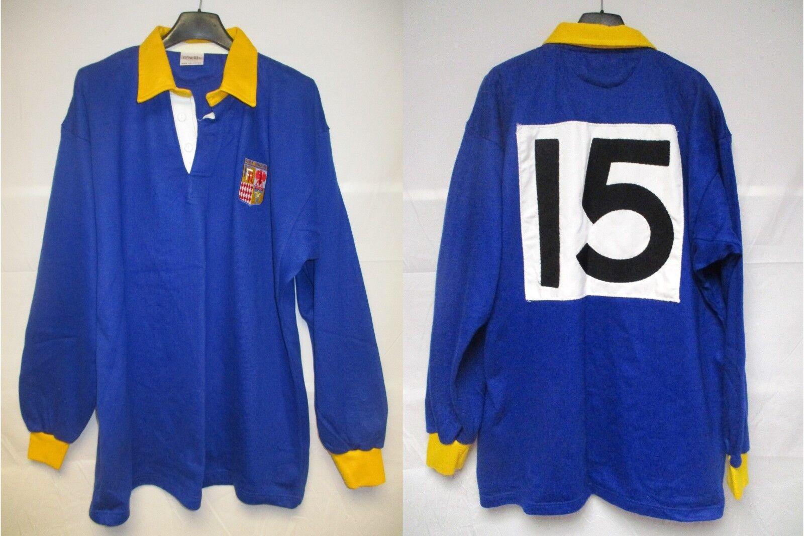 Maillot rugby Sélection CÔTE D'AZUR porté n°15 vintage O'NEILLS shirt 80's L