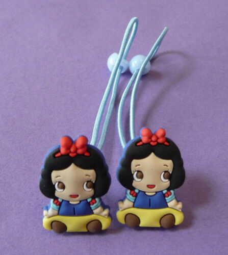 PRINCESS HAIR BOBBLE BAND ELASTICS PONIES ARIEL BELLE TINKERBELL GIRLS NEW