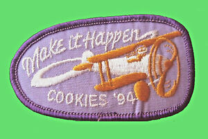 1994-Cookie-Sale-Patch-Girl-Scouts-MAKE-IT-HAPPEN-NEW-Multi-1-Ship-Chrg