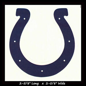 "Indianapolis Colts NFL Vinyl Decal Sticker Reflective OFFICIAL NFL 3"" Decal"