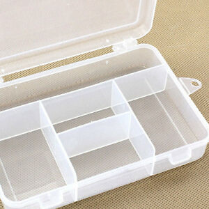 New Clear Plastic Case Container Jewelry Bead Storage Box Craft Tool