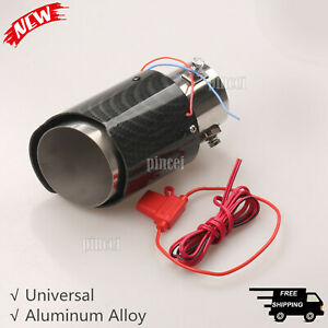 Universal-Car-Exhaust-Muffler-Silencer-Exhaust-Pipe-Tail-Throat-LED-Stainless