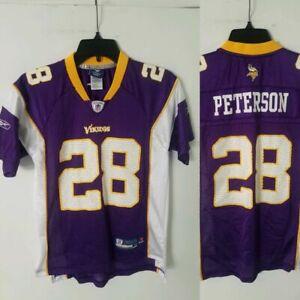 new style 3a213 c5bda Details about Minnesota Vikings Jersey KIDS YOUTH M MEDIUM (10-12) #28  Adrian Peterson REEBOK
