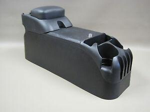 Image Is Loading Black Center Console With Black Upholstered Armrest Crown