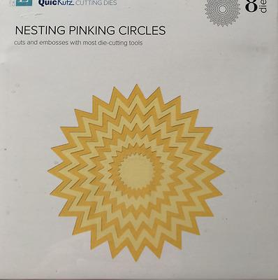 Lifestyle Crafts QuicKutz Nesting Die Set NESTING PINKING CIRCLES  8 Dies-DC0280