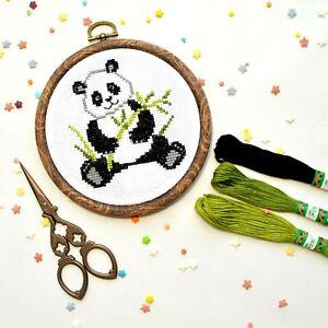 Panda-Cross-Stitch-Kit-For-Beginners-Easy-Cute-Animal-Pattern-DIY-Embroidery-KIT