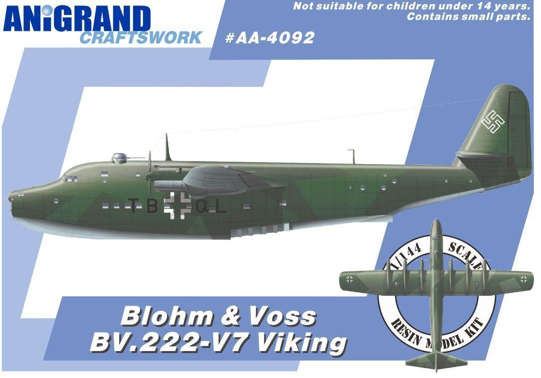 BLOHM & VOSS BV.222 VIKING (+DM Jaeger DFS-346++) ANIGRAND 1 144 RESIN KIT