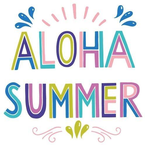 Wandtattoo Spruch Aloha Summer farbenfroh Familien Wanddekoration