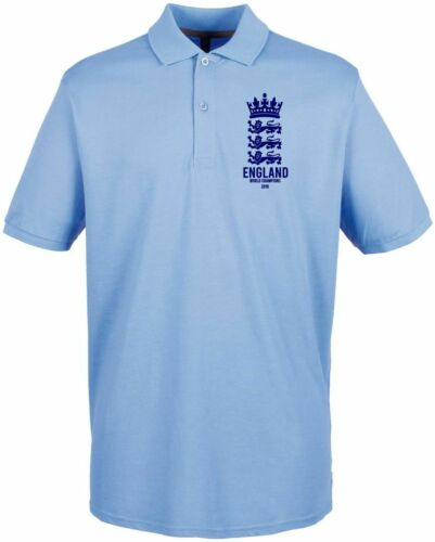 England Cricket World Cup Winners 2019 Logo Design Polo Mens