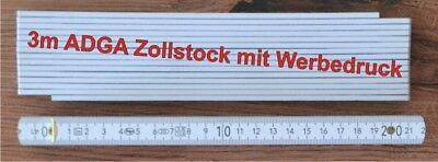 3m Adga Zollstock 3 m Maßstab mit Druck mit Wunschdruck Aufdruck Vorname Logo Geburtstag Sammeln & Seltenes