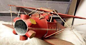 Vintage-Metal-Plane-Toy-Metal-Airplane-Toy-Plane-Model-RESTORE-Parts-REPAIR