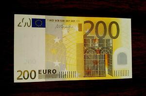 European union 200 euro GEM UNC -(x) germany first design sign.Draghi .