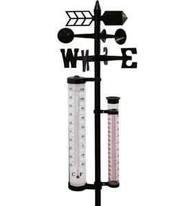 wetterstation garten, wetterstation outdoor garten thermometer mit erdspieß deko, Design ideen