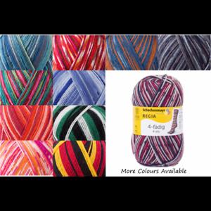Regia Couleur 4 Brins à tricoter Crochet Tricot Fil Craft Laine Coloré 100 g Balle