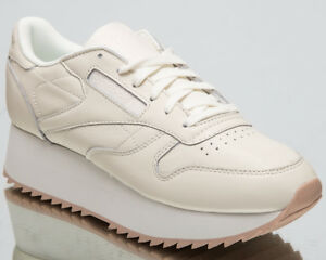 73dfffcf1fb Reebok Women s Classic Leather Double New Lifestyle Shoes Chalk ...