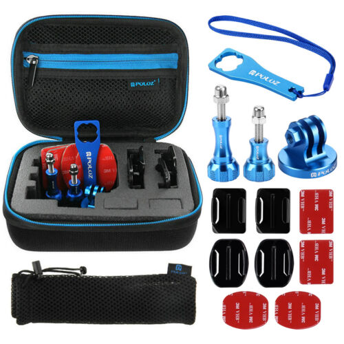 Puluz 13 en 1 CNC Metal Kit de accesorios con estuche de EVA para GoPro 6 5 4 3 2 1