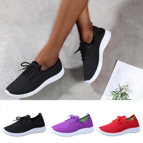 Women Sports Breathable Mesh Running Shoes Comfy Light Sneakers Gym Shoes A//5