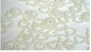 Wedding Heart Decoration Pearl Wedding Table Confetti Scatter