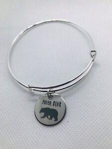 ca7455513 Image is loading Mama-Bear-Bangle-Bracelet-Silver-Fashion-Jewelry-charms