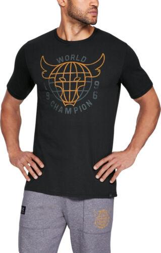 Men/'s Under Armour UA x Project Rock 96 World Champion T-Shirt 1326384 New M