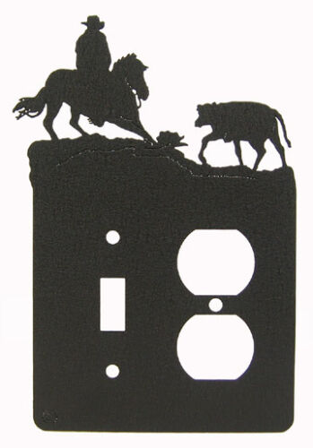 Cutting horse single light switch-outlet plate cover
