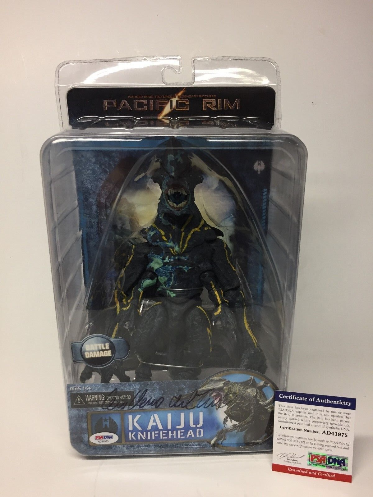 Guillermo Del Toro Signed Kaiju Knifehead Pacific Rim Monster Action Figure PSA