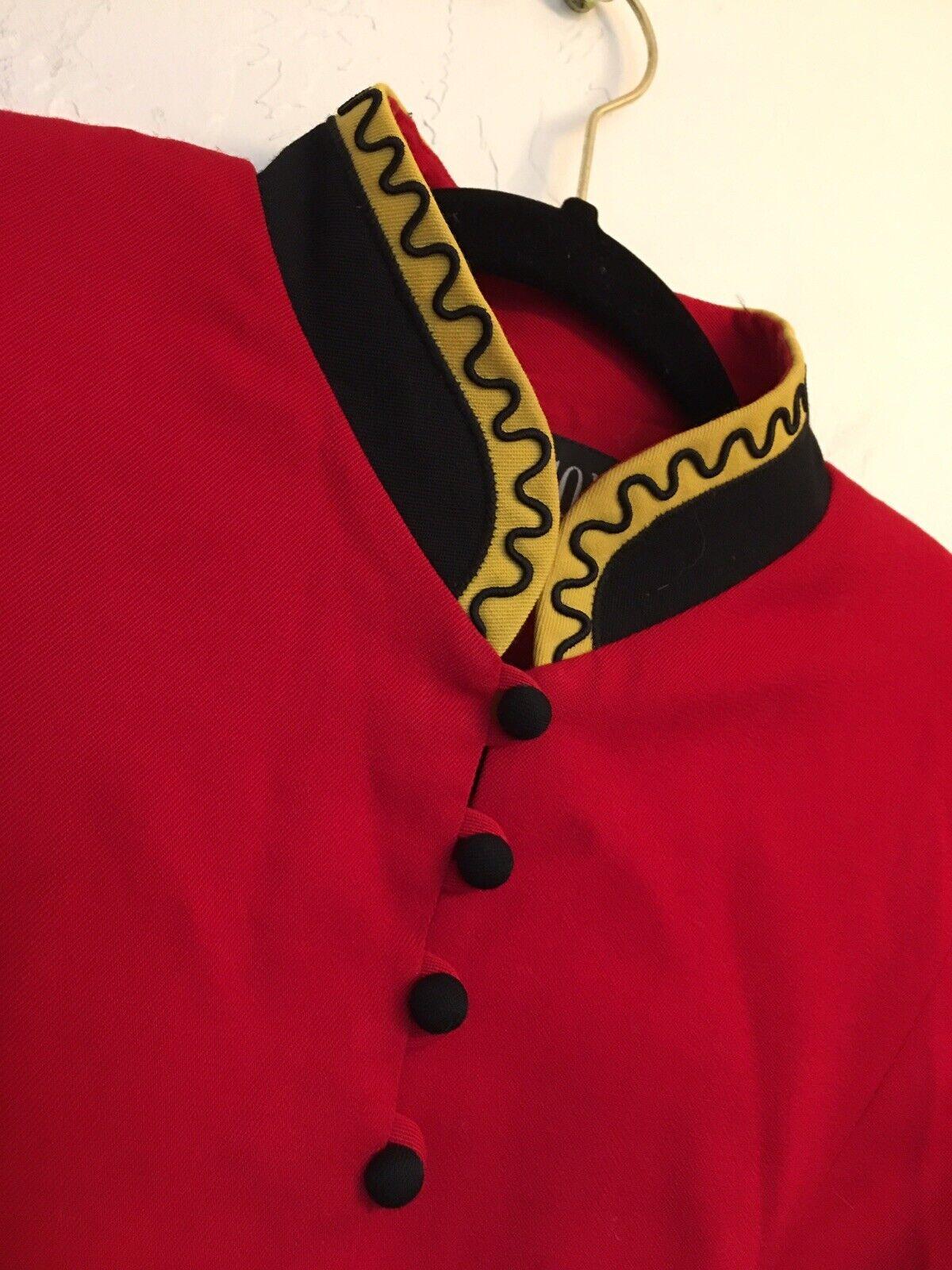 Hairson Roberson Wool Western Jacket Sz 4 Ringmaster Red Yellow Coat