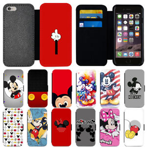 newest collection 7b4f1 9560c Details about For iPhone 6 7 8 X Plus Mickey Minnie Mouse PU Leather Wallet  Phone Case Cover