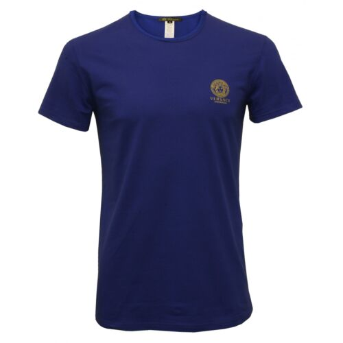 homme Iconic extensible Versace rond col bleu T coton à en shirt U5HRxnwqSz