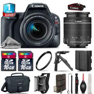 Canon EOS Rebel SL2 DSLR Camera + 18-55mm IS STM + EXT BAT + 32GB + 1yr Warranty 686437382638
