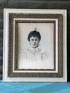 """Large Antique 1800s Wood and Gesso Gilt Gold Frame 26""""x30"""""""