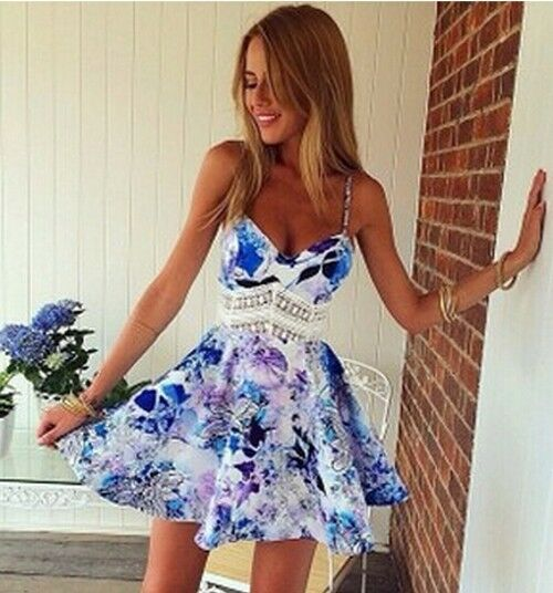 2015 Sexy Women's Casual Sleeveless Party Evening Cocktail Short Mini Dress NEW