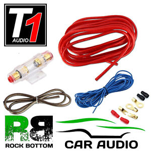 Gauge power wire kit ebay wire center t1 kit 8 awg 1200 watt 8 gauge power car amplifier amp sub subwoofer rh ebay greentooth Image collections