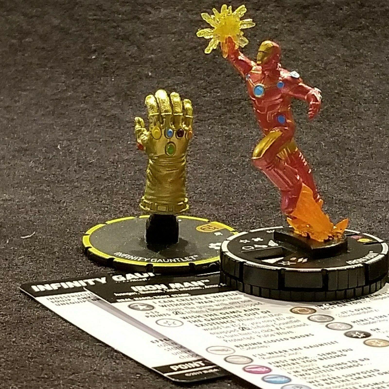 Iron-Man 070 & Infini Gauntlet s009 Chase Heroclix Noir Panthère  & Illuminati  le plus préférentiel