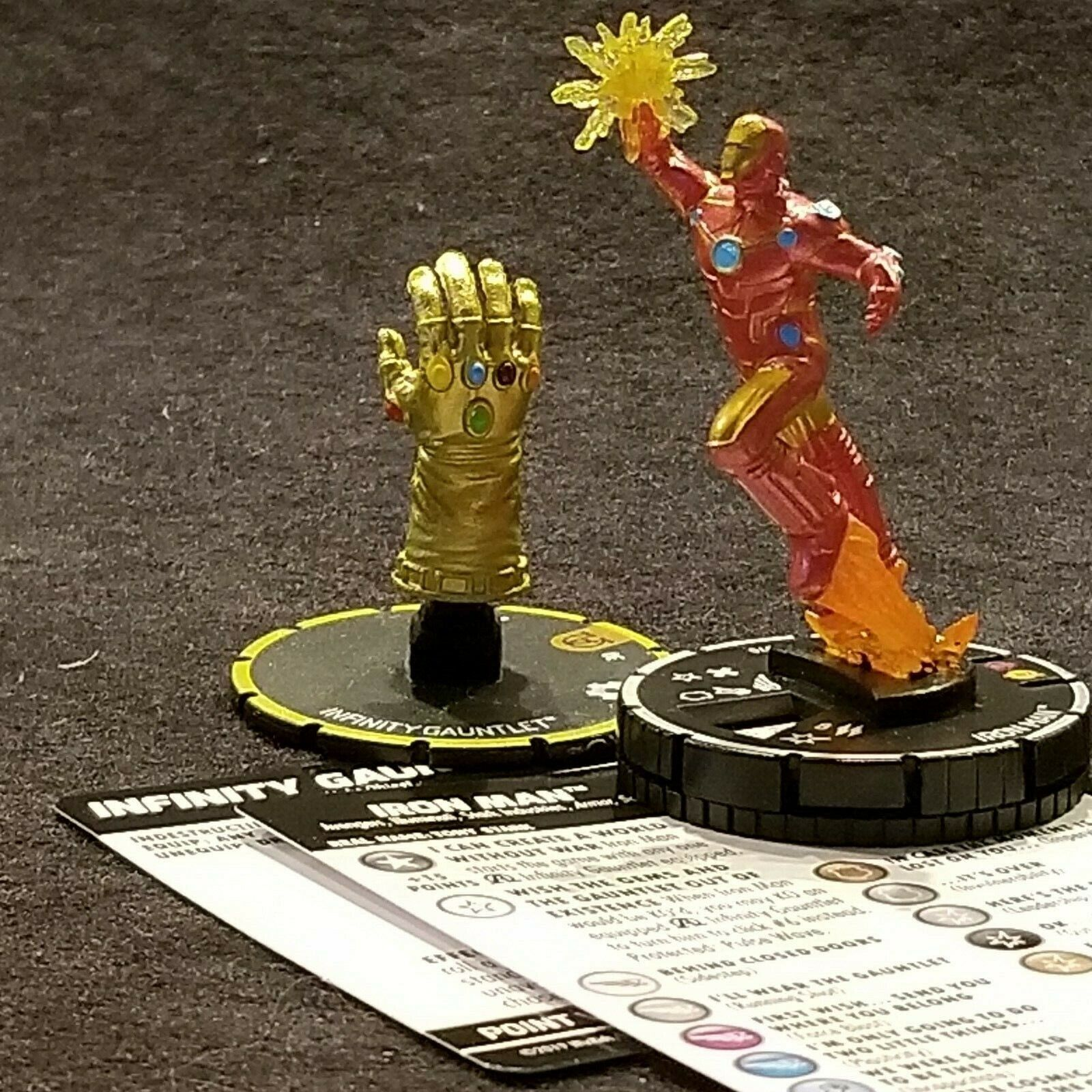 Iron Man 070 & Infinito Gauntlet s009 Chase Heroclix Pantera Negra y Illuminati