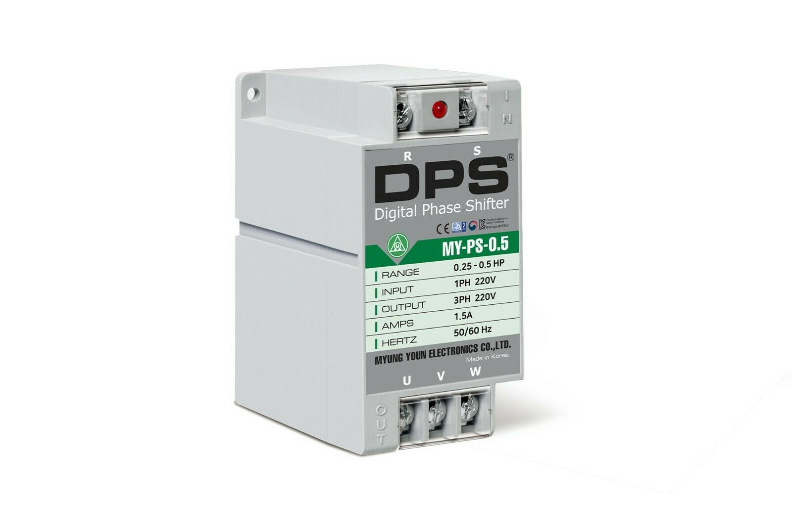 1Phase to 3Phase Converter,MY-PS-0.5, Best for 0.25HP(0.2KW) 0.7A 200-220V Motor
