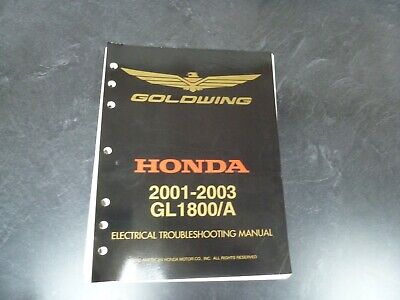 2001 2003 Honda Gl1800 A Gold Wing Motorcycle Electrical Wiring Diagrams Manual Ebay
