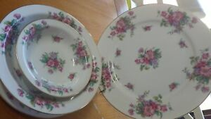 Fine China Dinnerware set Hanford JYOTO Dinner plate salad plate soup fruit bowl
