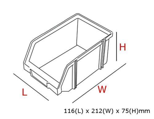 24 x Ergo L Rouge Boîte de Pièces en plastique de stockage empilable Picking bacs 116x212x75