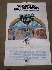 "LOGAN'S RUN(1976)MICHAEL YORK ORIGINAL ONE SHEET POSTER 27""BY41"" NICE!"