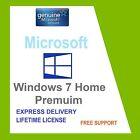 SCRAP PC con WINDOWS 7 HOME PREMIUM 32 /64 BIT OEM LICENZA CHIAVE CODICE