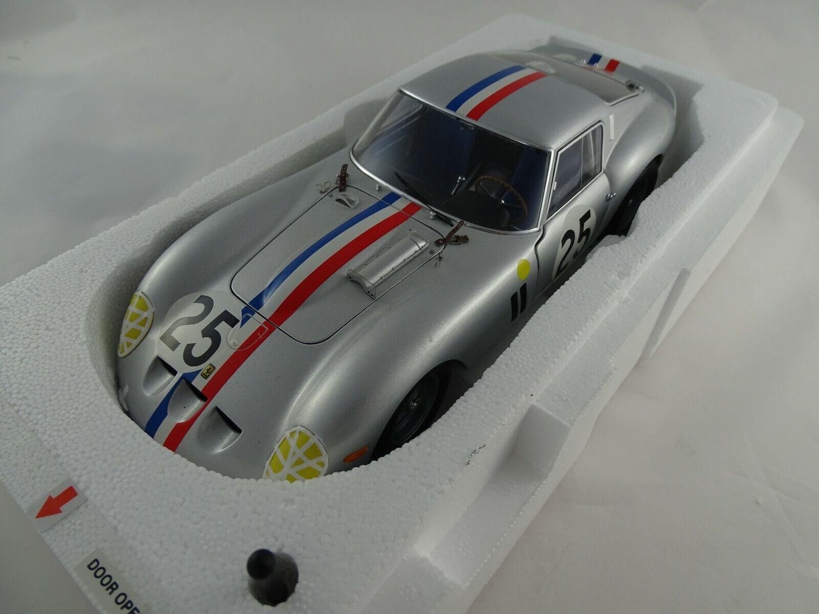 1 18 Kyosho Ferrari 250 GTO LM 1963 Racing  25 silber - RARITÄT