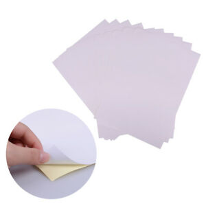 10sheets-A4-matt-printable-white-self-adhesive-sticker-paper-Iink-for-office-EE