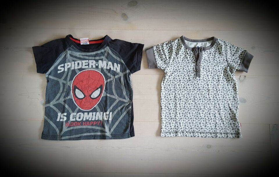 T-shirt, 2 stk., Marvel Spiderman og Pomp de Lux